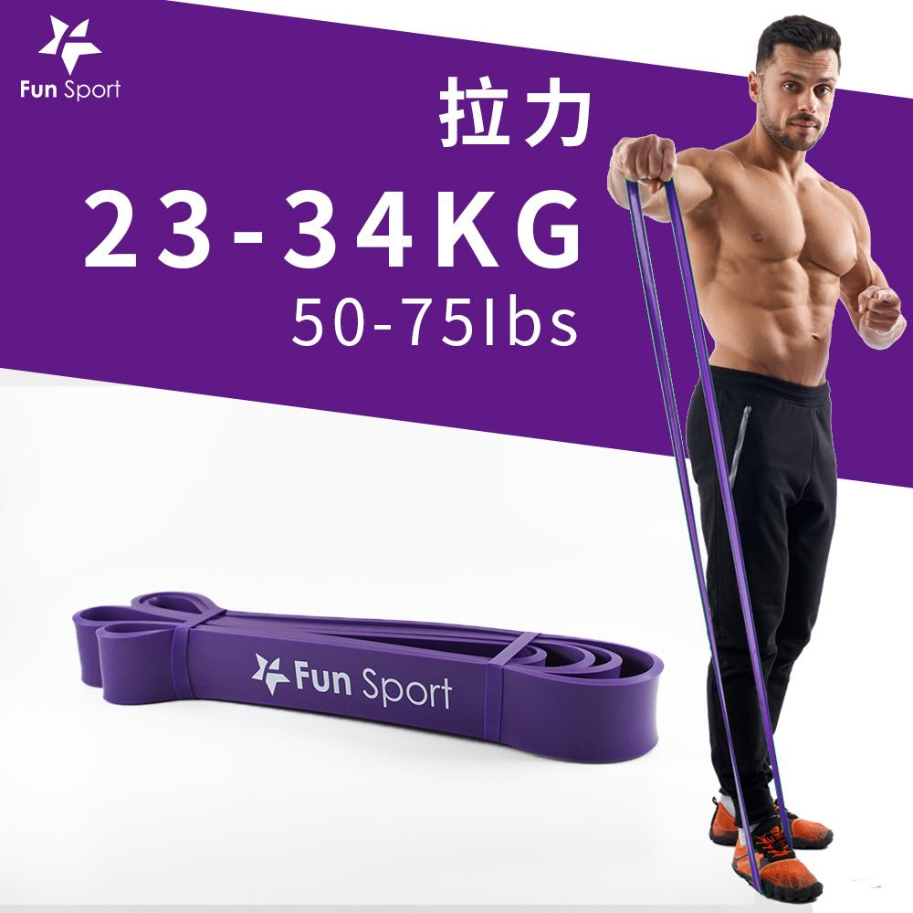 Fun Sport 健力環-乳膠環狀彈力阻力帶(紫)(阻力圈/彈力帶/拉力繩)