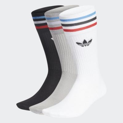 ADIDAS SOLID CREW SOCK 中筒襪3入-GN3076