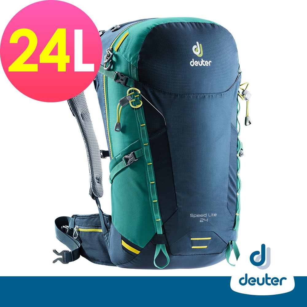 【deuter德國】SPEED LITE超輕量旅遊背包24L(3410418深藍綠)