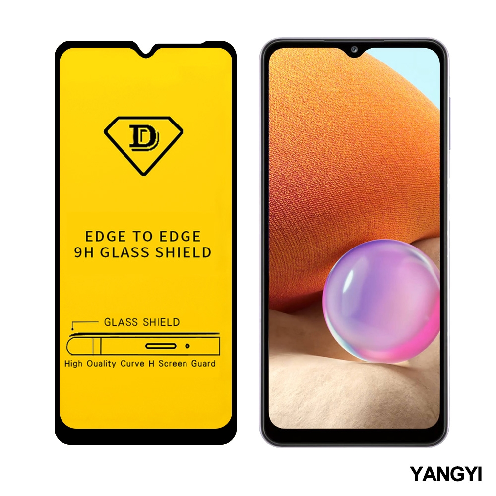 揚邑 Samsung Galaxy A32 5G 全膠滿版二次強化9H鋼化玻璃膜防爆保護貼