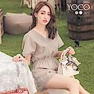 東京著衣-yoco 波西米亞女神緹花蕾絲連身褲-S.M.L(共二色)