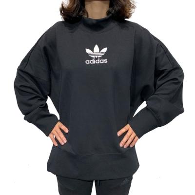 adidas SWEAT REBEL 大學T 女 黑