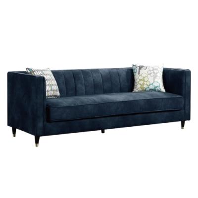 文創集 莎芭現代風棉麻布獨立筒三人座沙發椅-197x78x74cm免組