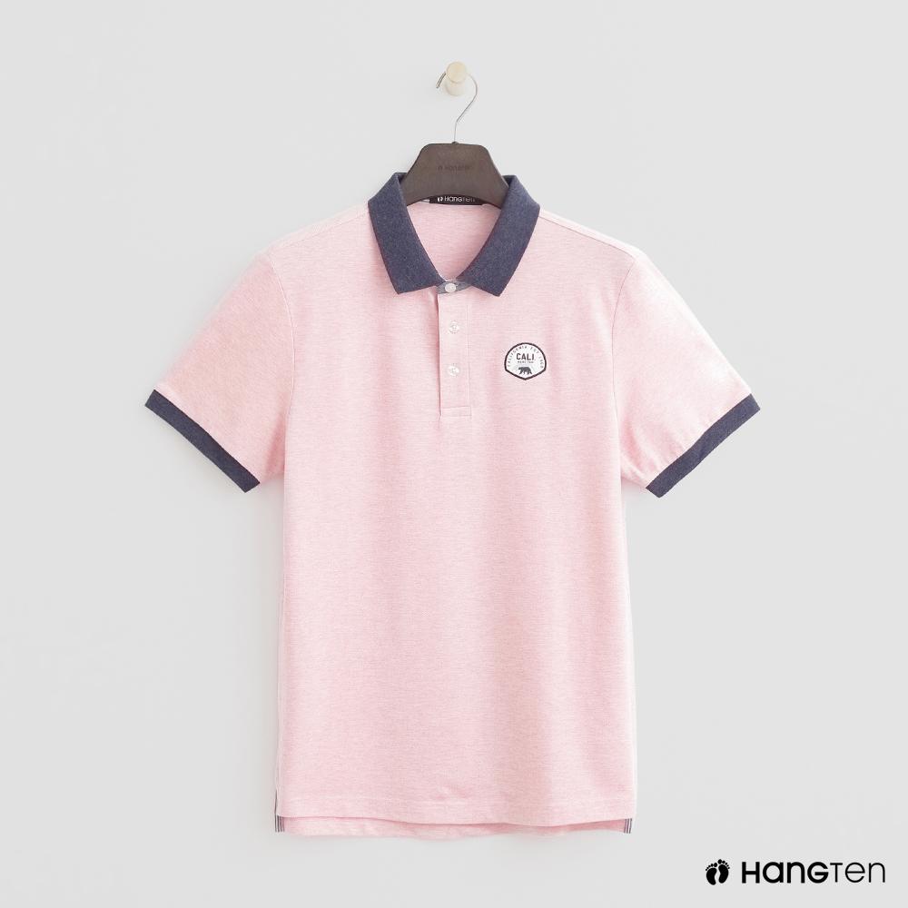 Hang Ten - 男裝 - 撞色滾邊POLO衫 - 粉