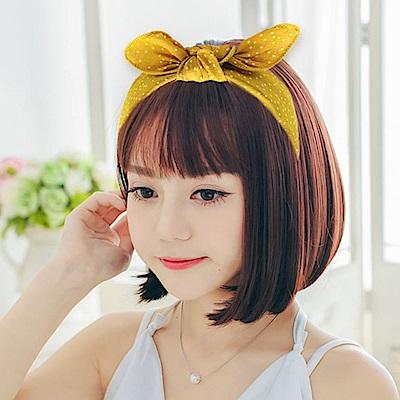Hera 赫拉 森林系蝴蝶結點點寬髮箍-4色