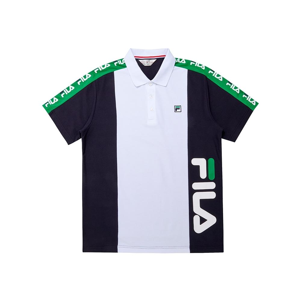 FILA 男短袖POLO衫-丈青 1POU-1451-NV