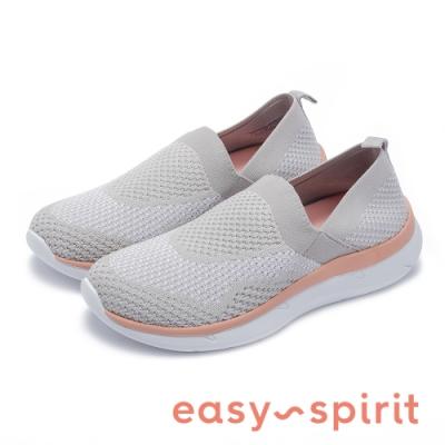 Easy Spirit-seSAVANA2 紡織布面透氣舒適休閒鞋-針織灰