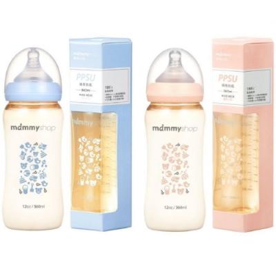 Baby童衣 媽咪小站mammy shop 台灣製造 母感體驗PPSU防脹氣哺育寬口徑奶瓶 360ml 88511