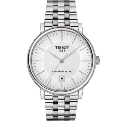TISSOT CARSON 都會品味紳士機械錶(T1224071103100)40mm