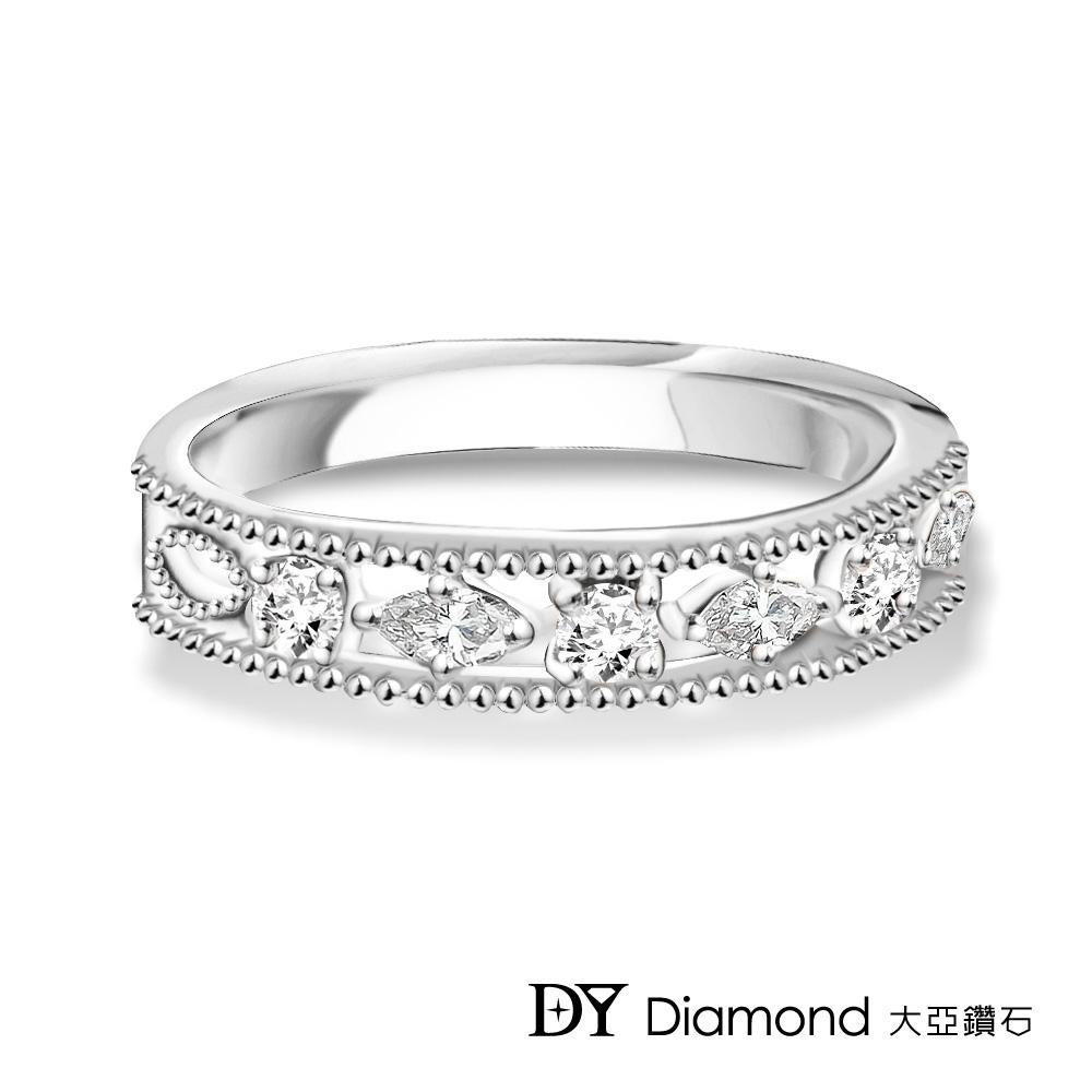 DY Diamond 大亞鑽石 L.Y.A輕珠寶 18K白金 星空 鑽石線戒