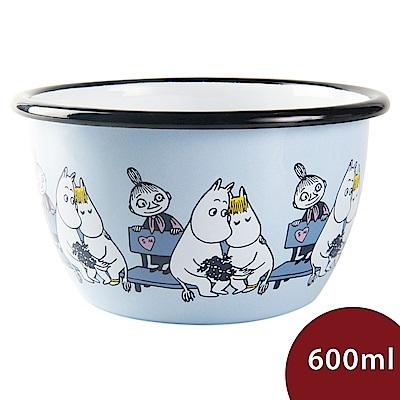 Muurla 嚕嚕米點心碗 靠在一起 粉藍 600ml 13.5cm