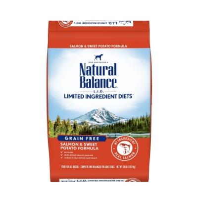 Natural Balance 低敏無穀地瓜鮭魚成犬配方 24LBS/10.9kg(購買第二件贈送寵鮮食零食*1包)
