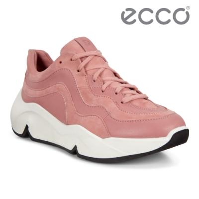 ECCO CHUNKY SNEAKER W 潮趣簡約輕量單色休閒運動鞋 女鞋 大馬士革粉