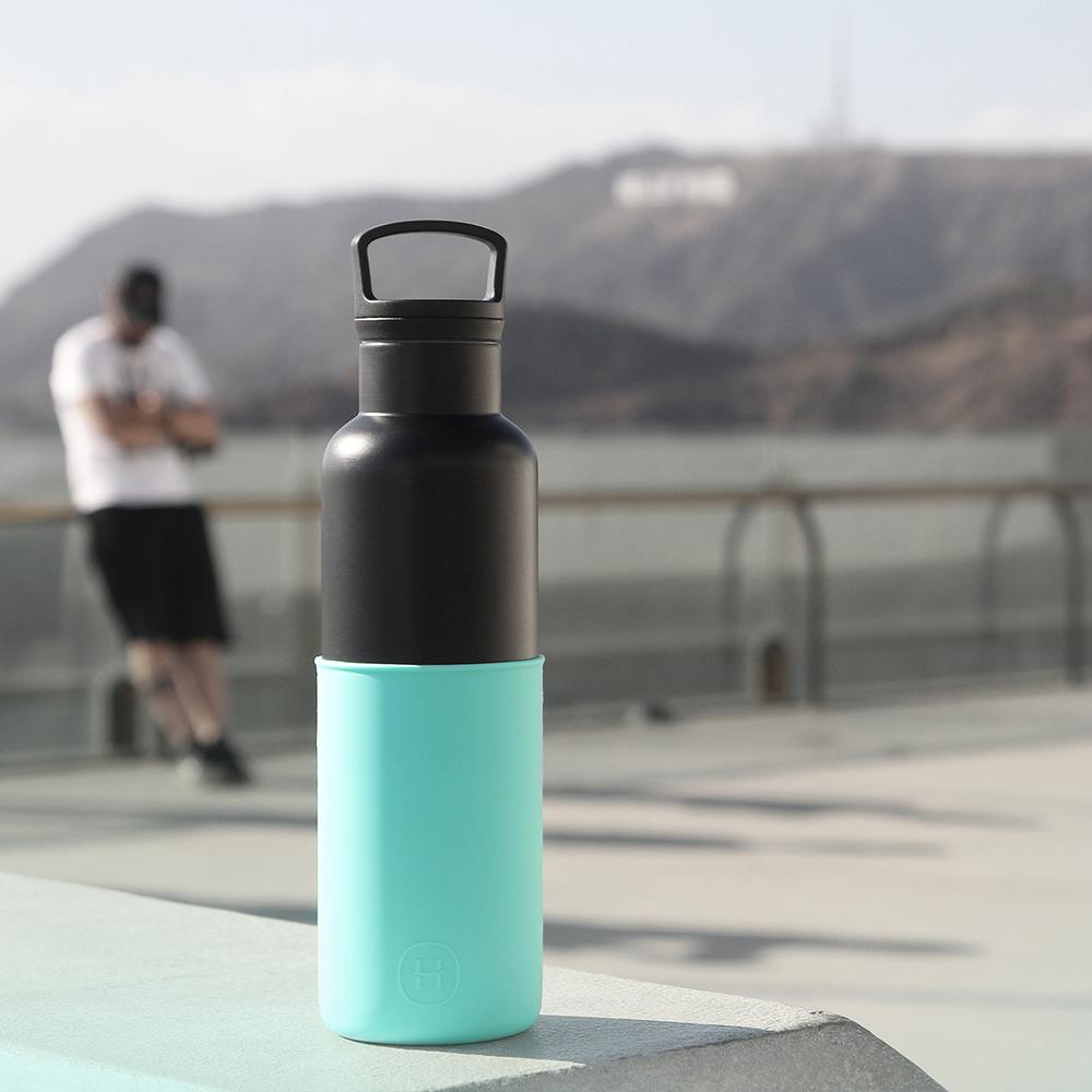 美國HYDY時尚保溫瓶_CinCin Black 北極藍-黑瓶 590ml