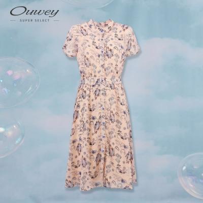 OUWEY歐薇 童趣塗鴉風印花洋裝(粉)
