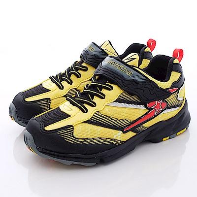 日本月星頂級競速童鞋 閃電爆彈系列 SE123黑黃(中大童段)