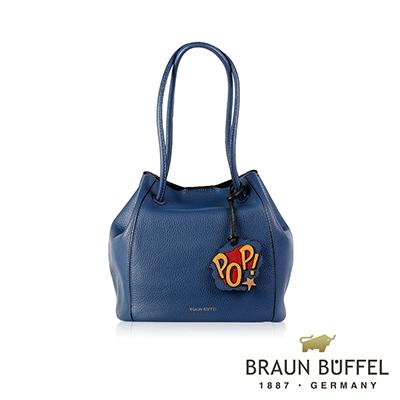 BRAUN BUFFEL -DELIA-P黛莉亞系列荔枝紋水桶包 - 沃荷藍