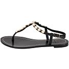 TORY BURCH Emmy 珍珠鍊飾夾腳涼鞋(黑色)