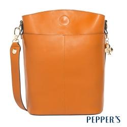 PEPPER S Callie 牛皮托特包 - 焦糖棕