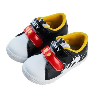 迪士尼童鞋 米奇 復古大臉皮質休閒鞋