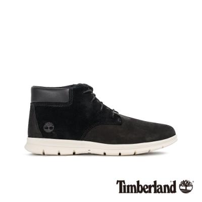Timberland 男款黑色磨砂革休閒鞋|A23VT