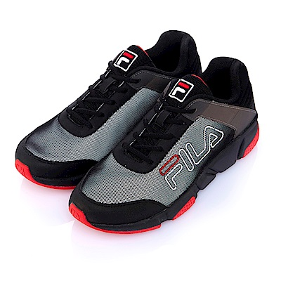 FILA中性慢跑鞋-黑 4-J526S-002