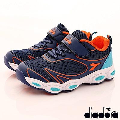 DIADORA 機能透能氣運動鞋款 RSI536藍(中大童段)