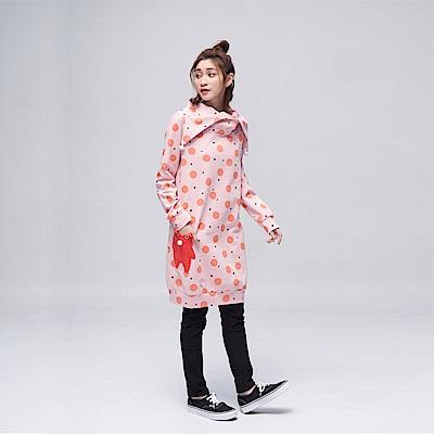 Dailo INLook 小雪人與夢不落帝國之雪球長版洋裝(粉色)