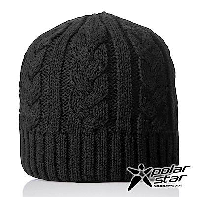 【PolarStar】中性 素色編織保暖帽『黑色』P18603