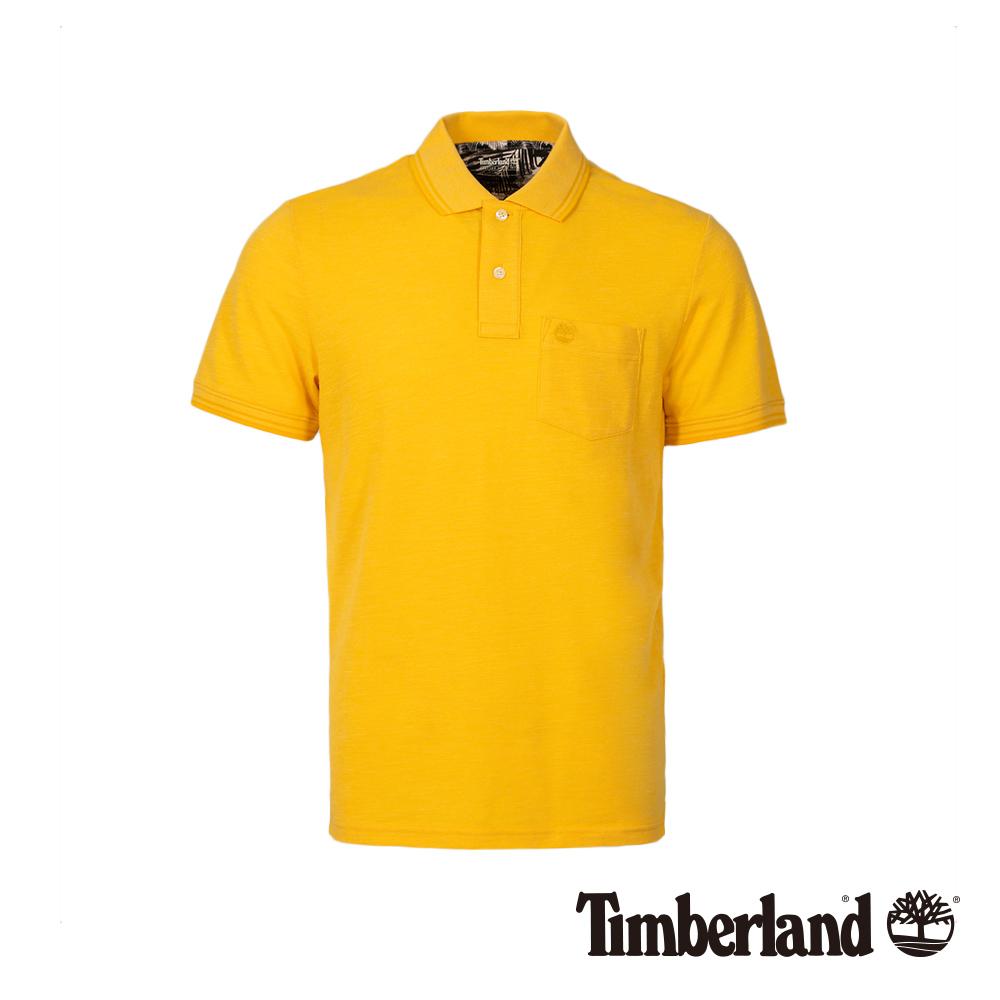 Timberland 男款檸檬黃短袖修身POLO衫 A1LYN