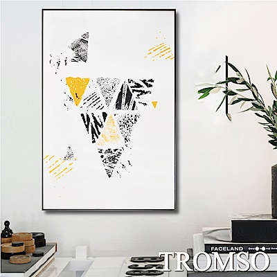 TROMSO 北歐生活版畫有框畫-風潮三角WA69