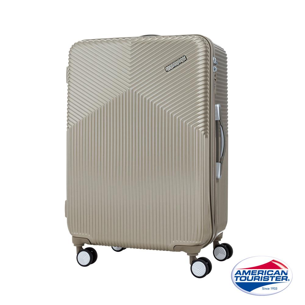 AT美國旅行者 25吋Air Ride 2/8開彈力滑輪PC硬殼行李箱(霧金)