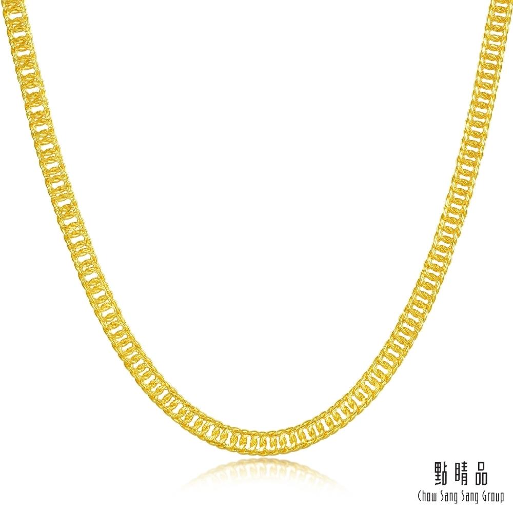 點睛品 機織素鍊 坦克鏈黃金項鍊60cm_計價黃金