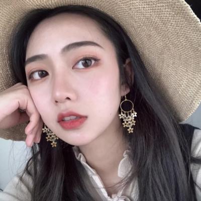 梨花HaNA 韓國925銀美若天仙花卉繽紛耳環