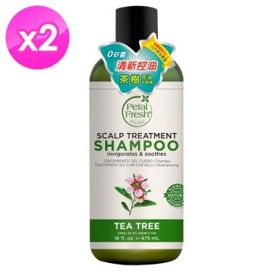美國沛特斯 有機成份茶樹控油洗髮精(16oz/475ml)-2入組