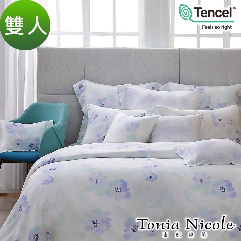Tonia Nicole東妮寢飾 水漾花影環保印染100%萊賽爾天絲被套床包組(雙人)