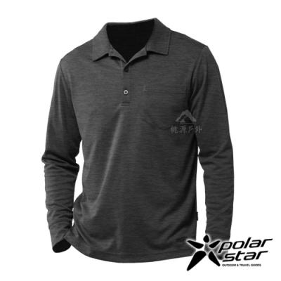 【PolarStar】男 吸排抗UV POLO衫『鐵灰』P20253