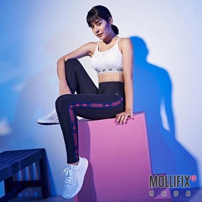 Mollifix 瑪莉菲絲 Pixel Art 極簡側織帶動塑褲 (黑)