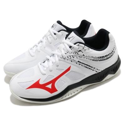 Mizuno 排球鞋 Thunder Blade 2 男鞋 美津濃 輕盈 避震 耐磨 抓地 白 紅 黑 V1GA197065