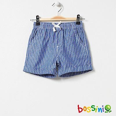 bossini女童-印花輕便短褲07天藍