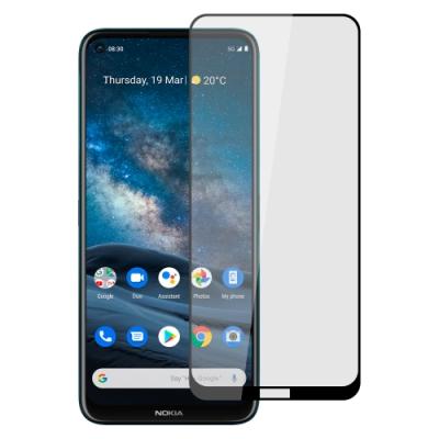 【Ayss】Nokia 8.3 5G/6.81吋/2020/平面滿版全膠/玻璃鋼化保護貼膜/四邊弧邊-黑