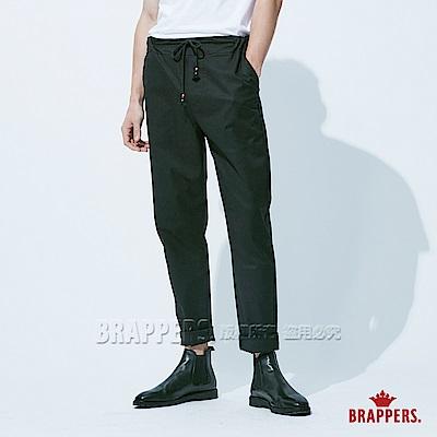 BRAPPERS 男款 鬆緊帶運動八分褲-黑