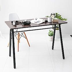 【日居良品】MIT 低甲醛工業風木感A字桌/工作桌/電腦桌(120公分寬)