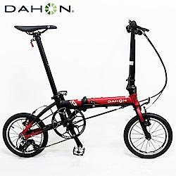 DAHON大行 K3 14吋3速 鋁合金輕量僅8.1公斤折疊單車/自行車-紅色