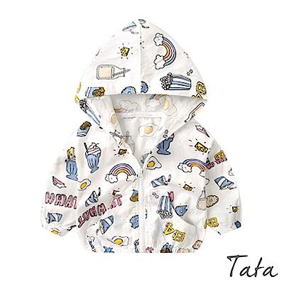 兒童 可愛印花連帽外套 共二色 TATA KIDS