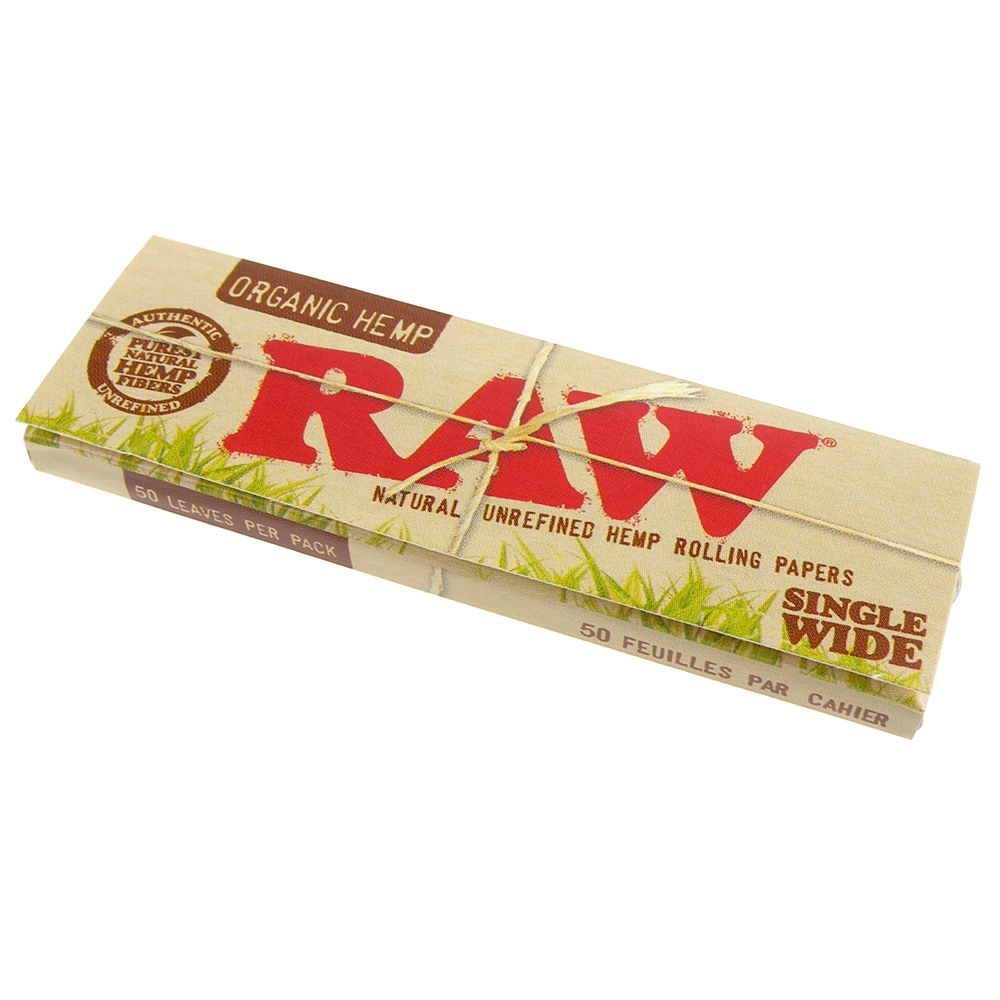 RAW ORGANIC HEMP SINGLE WIDE-有機麻天然捲煙紙*10包
