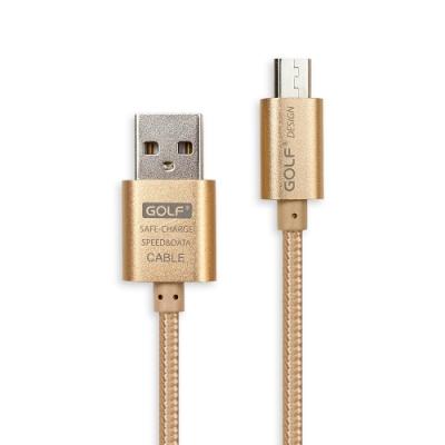 GOLF USB 轉 Micro USB 太空鋁系列網狀編織充電傳輸線(1M)