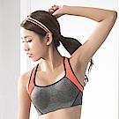 華歌爾 TRAINING 系列   C-D 罩杯專業運動胸罩 (鐵人灰)