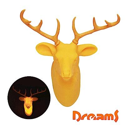Dreams Hunting Trophy 裝飾壁掛燈-公鹿/黃