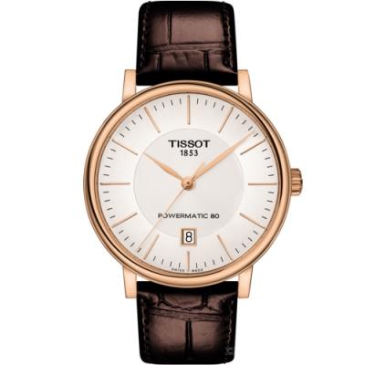 TISSOT CARSON 都會品味紳士機械錶(T1224073603100)40mm